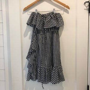 J. Crew Gingham Swimsuit Cover Up